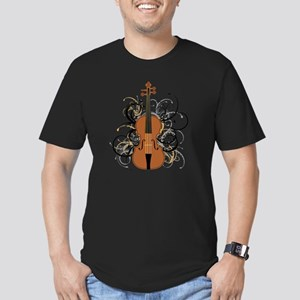 Violin Swirls Men's Fitted T-Shirt (dark)