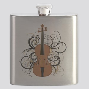 Violin Swirls Flask