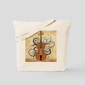 Violin Swirls Tote Bag