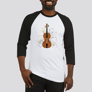 Violin Swirls (for dark colours) Baseball Jersey