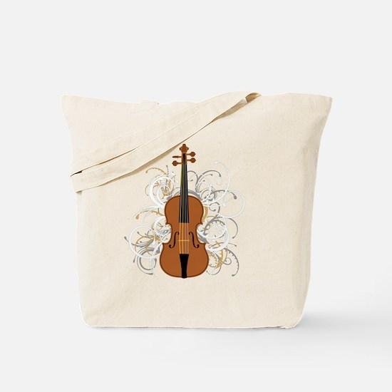 Violin Swirls (for dark colours) Tote Bag