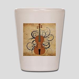 Violin Swirls Shot Glass