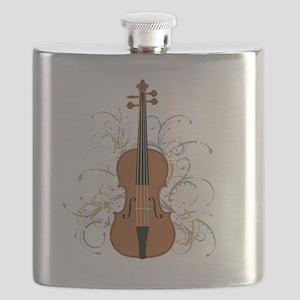 Violin Swirls (for dark colours) Flask