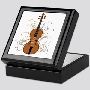 Violin Swirls (for dark colours) Keepsake Box