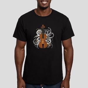 Violin Swirls (for dar Men's Fitted T-Shirt (dark)