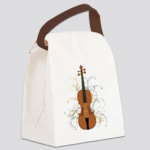 Violin Swirls (for dark colours) Canvas Lunch Bag