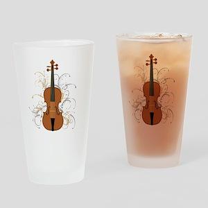 Violin Swirls (for dark colours) Drinking Glass