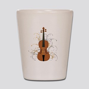 Violin Swirls (for dark colours) Shot Glass