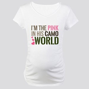 Im the Pink in his Camo World Maternity T-Shirt
