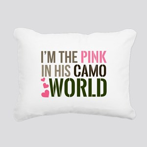 Im the Pink in his Camo World Rectangular Canvas P