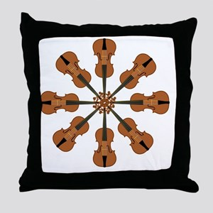 Circle of Violins Throw Pillow