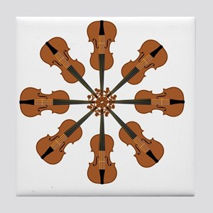 Circle of Violins Tile Coaster