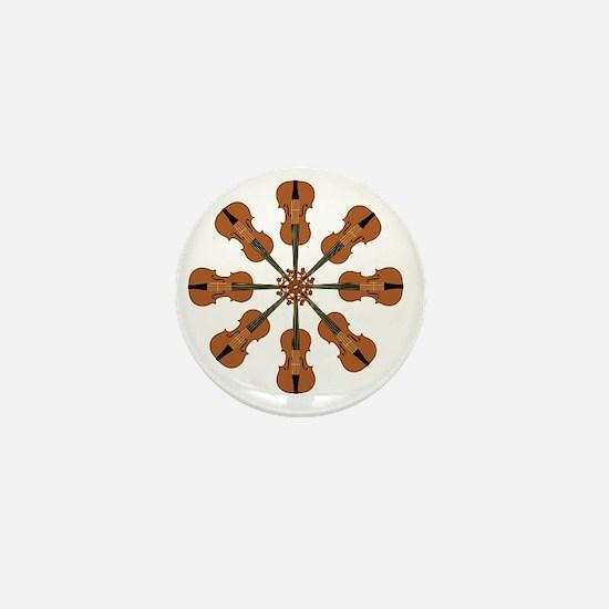Circle of Violins Mini Button