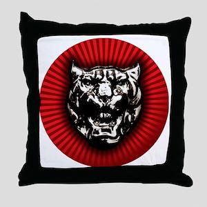 Vintage style Jaguar head emblem Throw Pillow