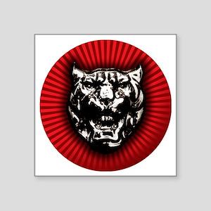 """Vintage style Jaguar head e Square Sticker 3"""" ..."""