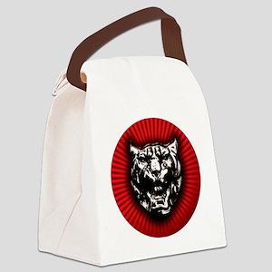 Vintage style Jaguar head emblem Canvas Lunch Bag