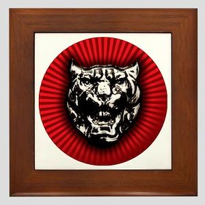 Vintage style Jaguar head emblem Framed Tile