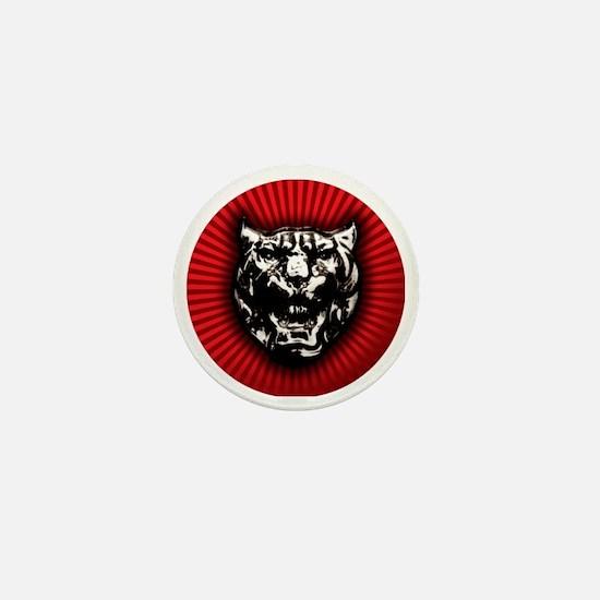 Vintage style Jaguar head emblem Mini Button