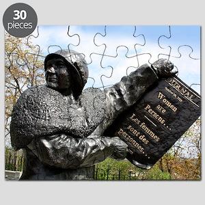 Women's rights statue, Canada Puzzle