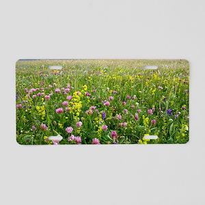 Wildflower meadow Aluminum License Plate