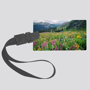 Wildflower meadow Large Luggage Tag