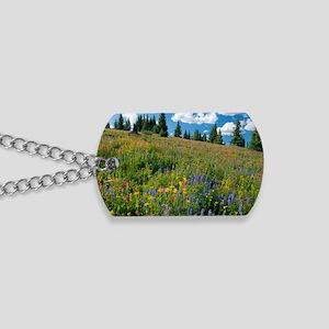 Wildflower meadow Dog Tags