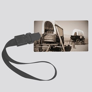 Wild West covered wagons Large Luggage Tag