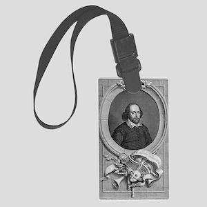 William Shakespeare, English pla Large Luggage Tag