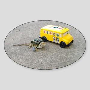 Spiny the Lizard back to school Sticker (Oval)