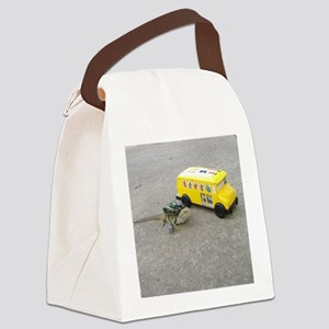 Spiny the Lizard back to school Canvas Lunch Bag