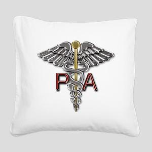 PA Symbol Square Canvas Pillow