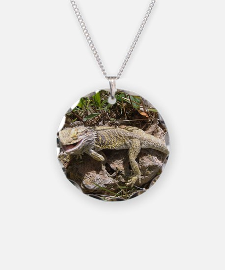 Spiny the Lizard Smiling Necklace