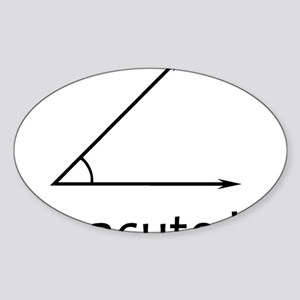 Im acute kid Sticker (Oval)