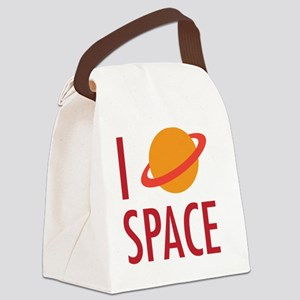 I Heart Space Canvas Lunch Bag