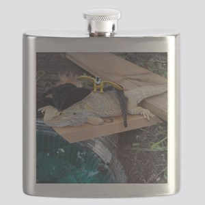 Pirate Spiny the Lizard Flask