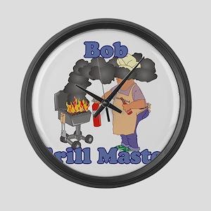Grill Master Bob Large Wall Clock