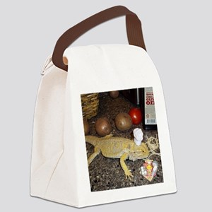 Chef Spiny the Lizard Canvas Lunch Bag