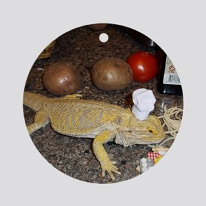Chef Spiny the Lizard Round Ornament
