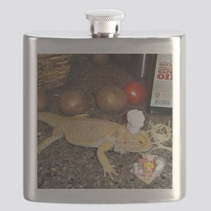 Chef Spiny the Lizard Flask