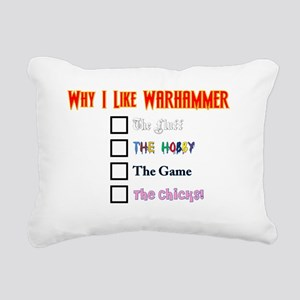 Why I Like Warhammer Rectangular Canvas Pillow