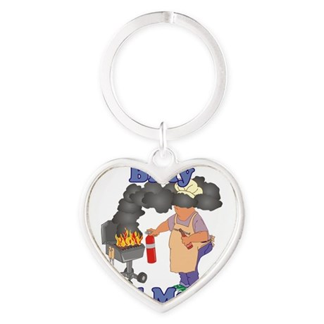 Grill Master Billy Heart Keychain