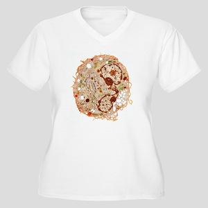 White blood cell, Women's Plus Size V-Neck T-Shirt