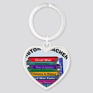 hISTORY TEACHER Heart Keychain