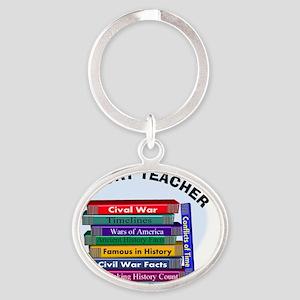 hISTORY TEACHER Oval Keychain