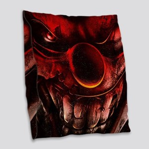 Winky The One Eyed Evil Clown Burlap Throw Pillow