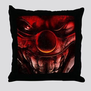 Winky The One Eyed Evil Clown Throw Pillow