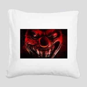 Winky The One Eyed Evil Clown Square Canvas Pillow