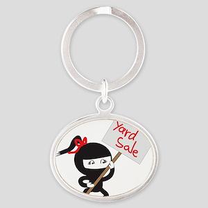 Yard Sale Ninjas Logo Oval Keychain