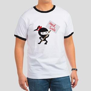 Yard Sale Ninjas Logo Ringer T