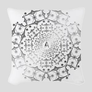 Enterprise Art Silver Woven Throw Pillow